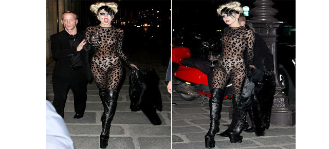 Lady Gaga (Ooh Lala) Catwalk Debut at Paris Fashion Week