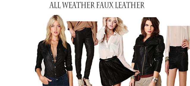 I Can't Believe It's Not Leather: All Weather Faux Leather
