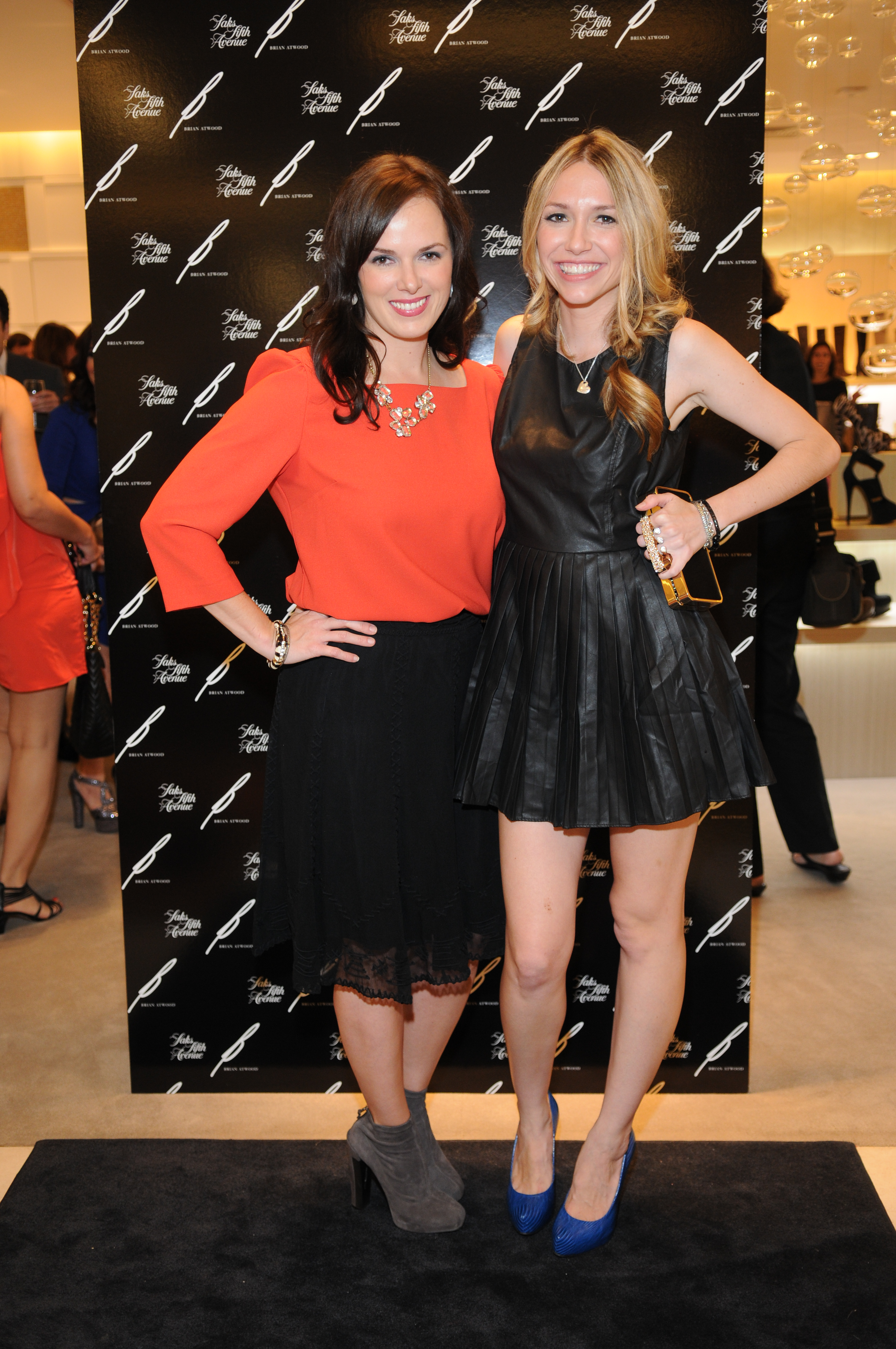 B Brian Atwood Launch at Saks: Tiffany Whiteley and Lauren Pray