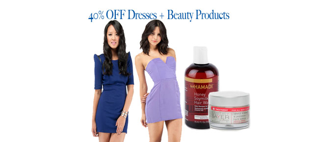 Feeling Festive? 40% off Dresses + Beauty Products