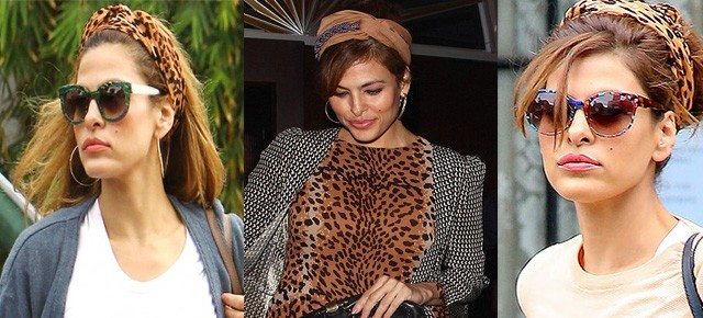 Eva Mendes and Her Effortless Headscarf Style